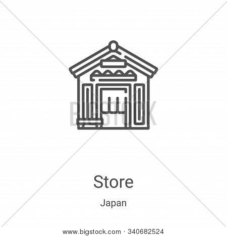 store icon isolated on white background from japan collection. store icon trendy and modern store sy