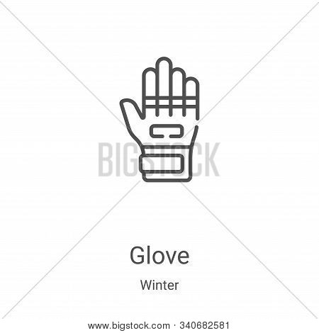 glove icon isolated on white background from winter collection. glove icon trendy and modern glove s