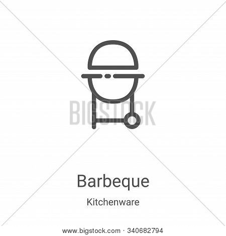 barbeque icon isolated on white background from kitchenware collection. barbeque icon trendy and mod