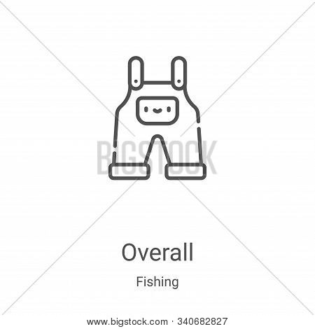 overall icon isolated on white background from fishing collection. overall icon trendy and modern ov