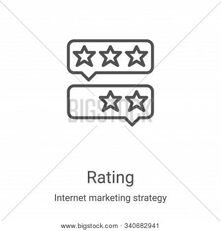 rating icon isolated on white background from internet marketing strategy collection. rating icon tr