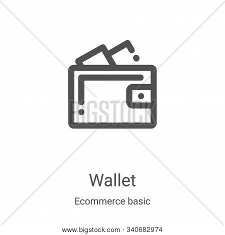 wallet icon isolated on white background from ecommerce basic collection. wallet icon trendy and mod