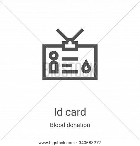 id card icon isolated on white background from blood donation collection. id card icon trendy and mo