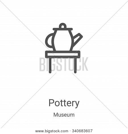 pottery icon isolated on white background from museum collection. pottery icon trendy and modern pot
