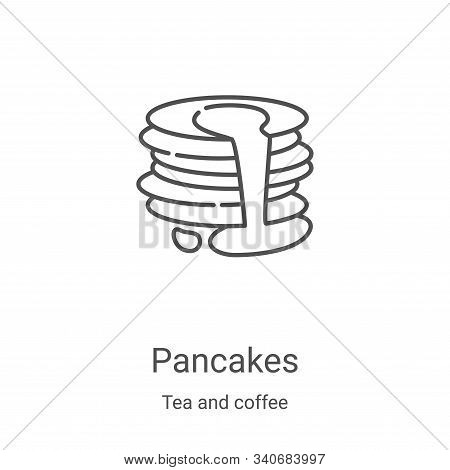 pancakes icon isolated on white background from tea and coffee collection. pancakes icon trendy and
