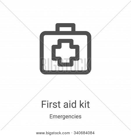 first aid kit icon isolated on white background from emergencies collection. first aid kit icon tren