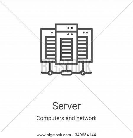 server icon isolated on white background from computers and network collection. server icon trendy a