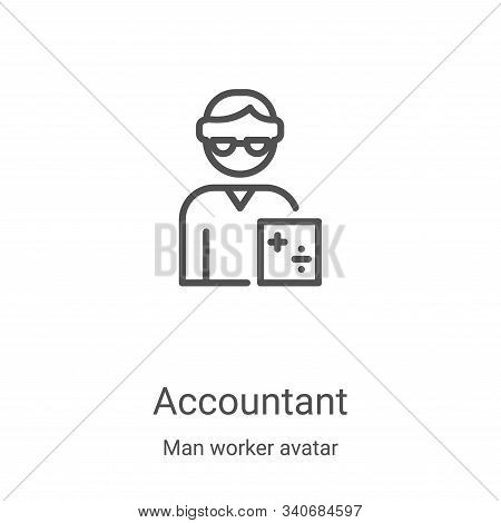 accountant icon isolated on white background from man worker avatar collection. accountant icon tren