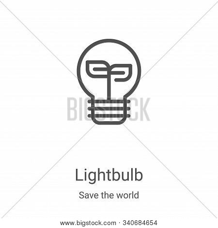 lightbulb icon isolated on white background from save the world collection. lightbulb icon trendy an