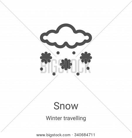 snow icon isolated on white background from winter travelling collection. snow icon trendy and moder