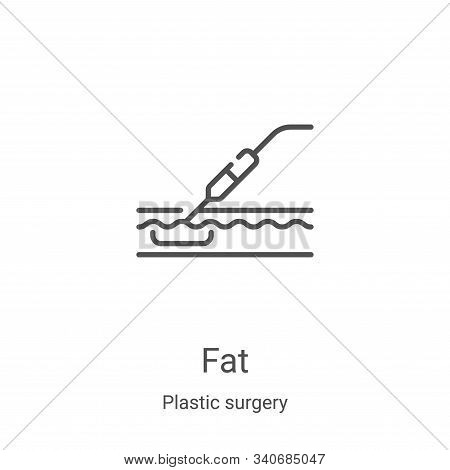 fat icon isolated on white background from plastic surgery collection. fat icon trendy and modern fa