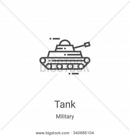 tank icon isolated on white background from military collection. tank icon trendy and modern tank sy