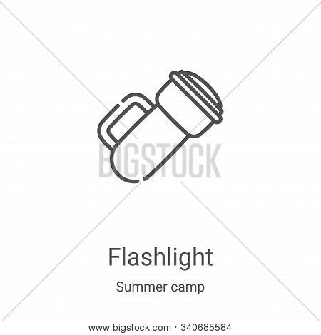 flashlight icon isolated on white background from summer camp collection. flashlight icon trendy and