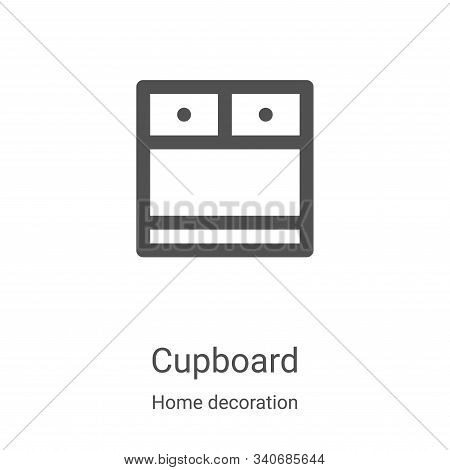 cupboard icon isolated on white background from home decoration collection. cupboard icon trendy and