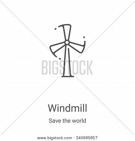 windmill icon isolated on white background from save the world collection. windmill icon trendy and