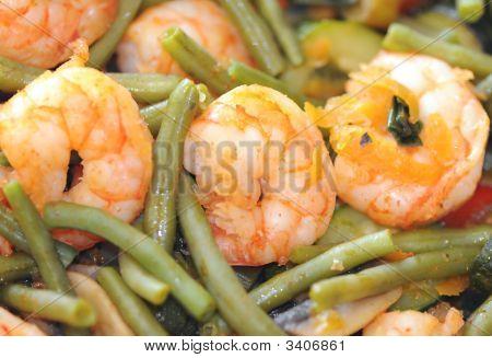 Close Up Of Shrimps