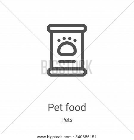 pet food icon isolated on white background from pets collection. pet food icon trendy and modern pet