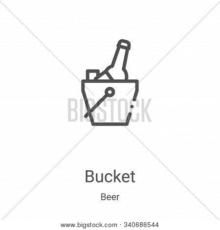 bucket icon isolated on white background from beer collection. bucket icon trendy and modern bucket