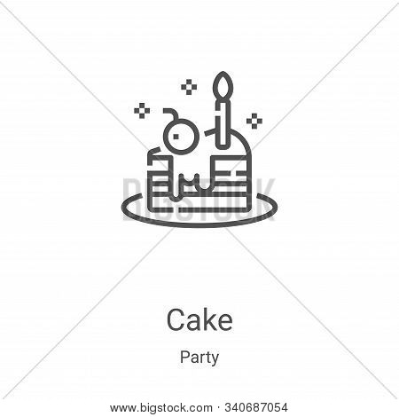 cake icon isolated on white background from party collection. cake icon trendy and modern cake symbo