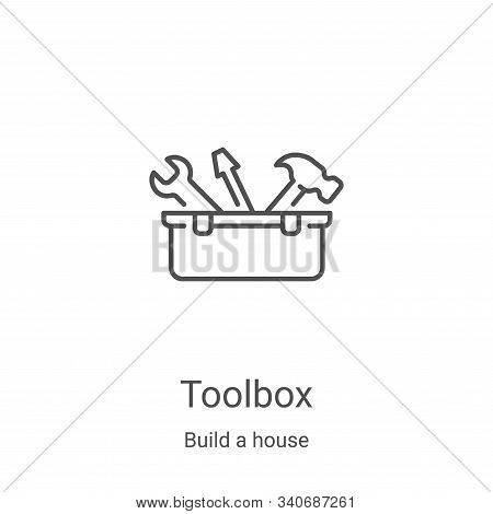 toolbox icon isolated on white background from build a house collection. toolbox icon trendy and mod