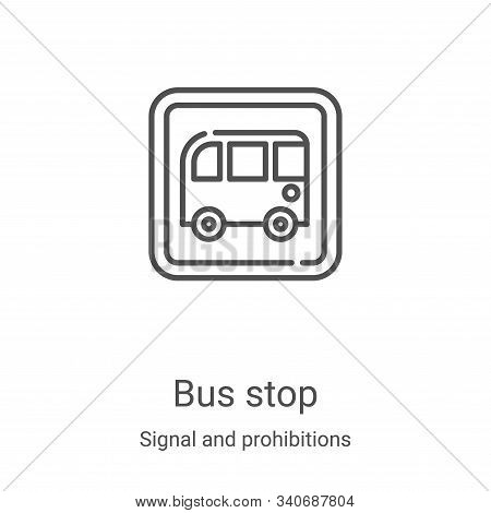 bus stop icon isolated on white background from signal and prohibitions collection. bus stop icon tr