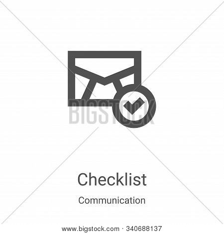 checklist icon isolated on white background from communication collection. checklist icon trendy and