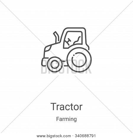 tractor icon isolated on white background from farming collection. tractor icon trendy and modern tr