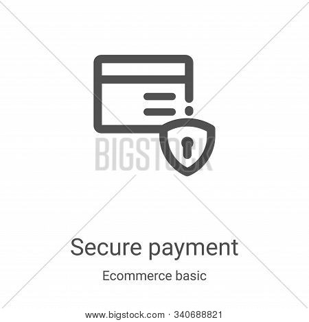 secure payment icon isolated on white background from ecommerce basic collection. secure payment ico