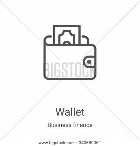 wallet icon isolated on white background from business finance collection. wallet icon trendy and mo