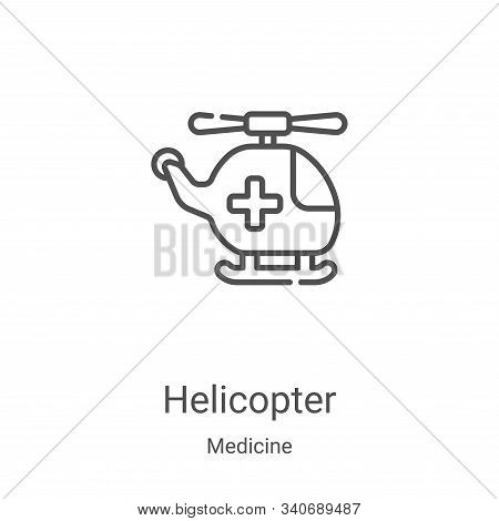 helicopter icon isolated on white background from medicine collection. helicopter icon trendy and mo