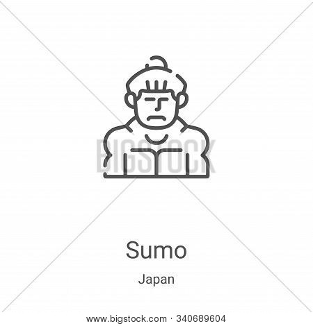sumo icon isolated on white background from japan collection. sumo icon trendy and modern sumo symbo