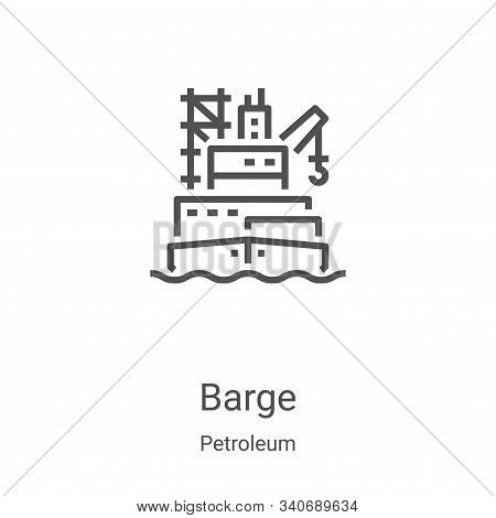 barge icon isolated on white background from petroleum collection. barge icon trendy and modern barg
