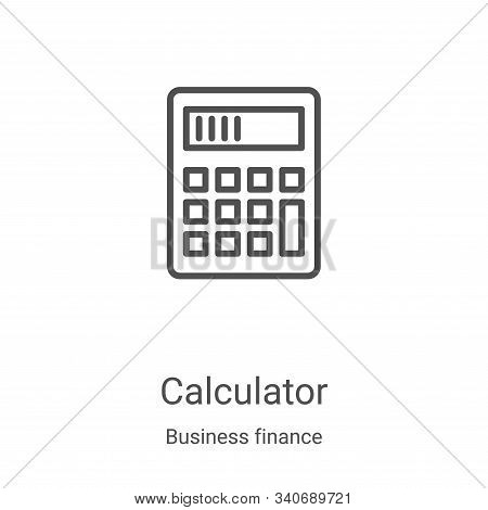 calculator icon isolated on white background from business finance collection. calculator icon trend