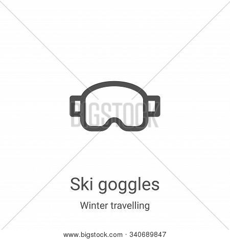 ski goggles icon isolated on white background from winter travelling collection. ski goggles icon tr