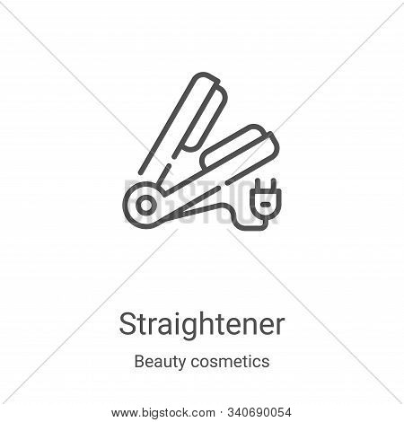 straightener icon isolated on white background from beauty cosmetics collection. straightener icon t