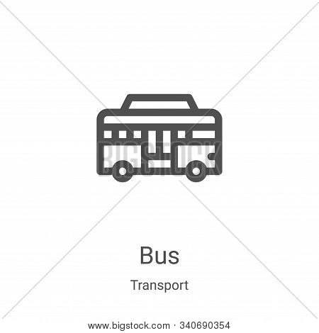 bus icon isolated on white background from transport collection. bus icon trendy and modern bus symb