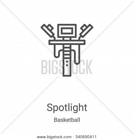 spotlight icon isolated on white background from basketball collection. spotlight icon trendy and mo