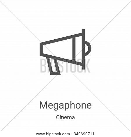 megaphone icon isolated on white background from cinema collection. megaphone icon trendy and modern