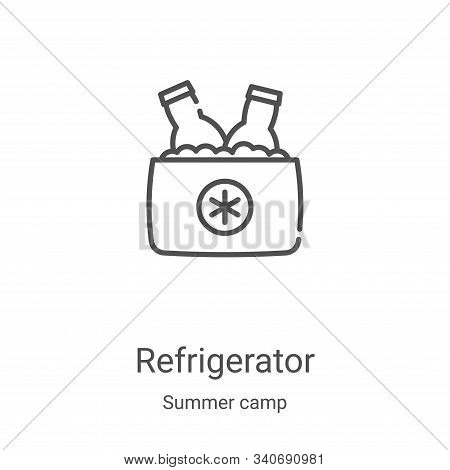 refrigerator icon isolated on white background from summer camp collection. refrigerator icon trendy