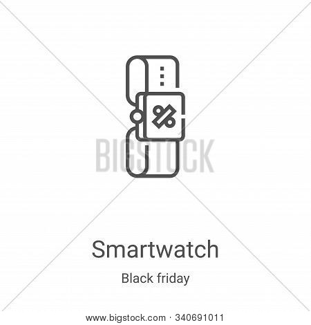smartwatch icon isolated on white background from black friday collection. smartwatch icon trendy an