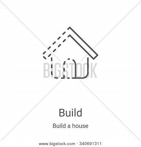 build icon isolated on white background from build a house collection. build icon trendy and modern