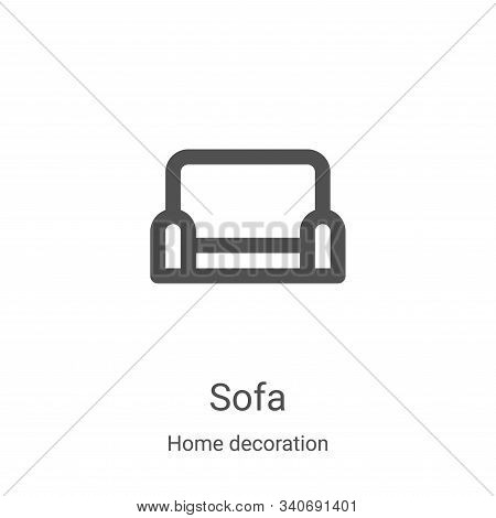 sofa icon isolated on white background from home decoration collection. sofa icon trendy and modern