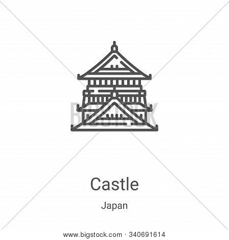 castle icon isolated on white background from japan collection. castle icon trendy and modern castle