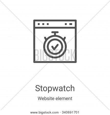 stopwatch icon isolated on white background from website element collection. stopwatch icon trendy a