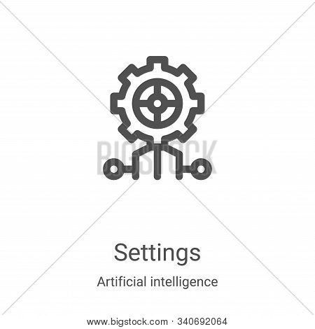 settings icon isolated on white background from artificial intelligence collection. settings icon tr