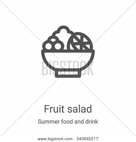 fruit salad icon isolated on white background from summer food and drink collection. fruit salad ico