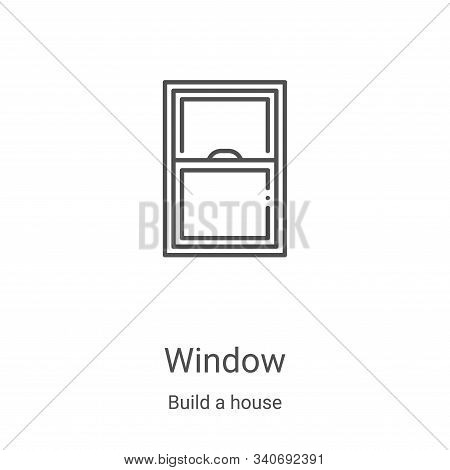 window icon isolated on white background from build a house collection. window icon trendy and moder