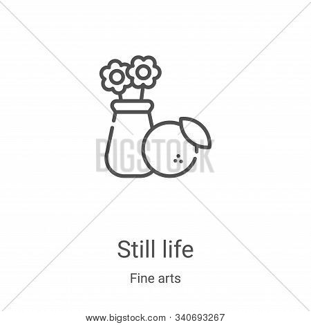 still life icon isolated on white background from fine arts collection. still life icon trendy and m