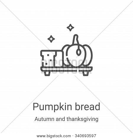 pumpkin bread icon isolated on white background from autumn and thanksgiving collection. pumpkin bre