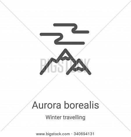 aurora borealis icon isolated on white background from winter travelling collection. aurora borealis